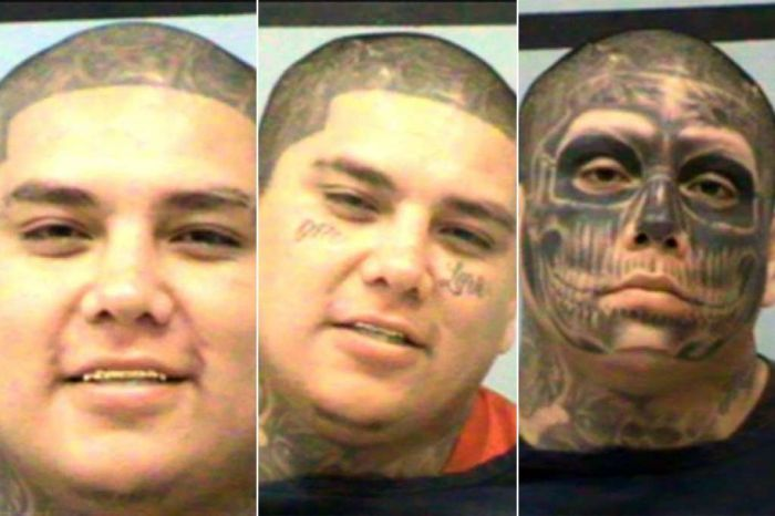 Fresh Faced Youngster Turns Into Tattooed Criminal (7 pics)