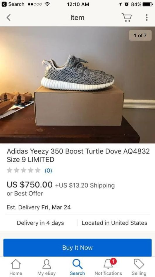 A Boy Ordered Limited Edition Shoes On eBay  (4 pics)