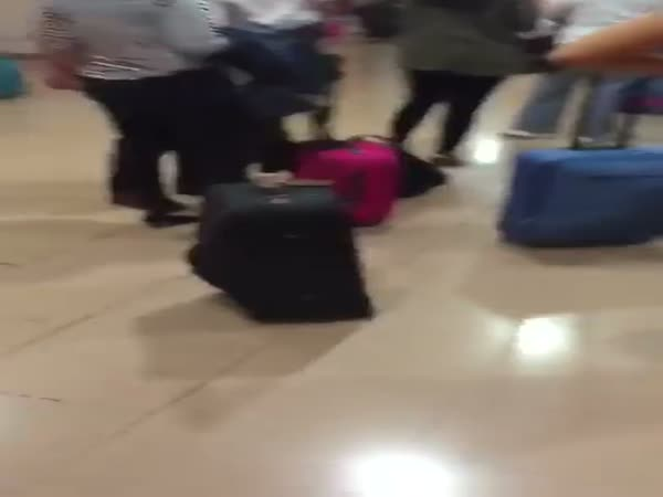 Sexy Lady In The Airport