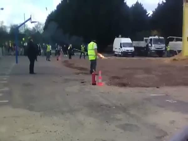 Huge Explosion At Paris Carnival