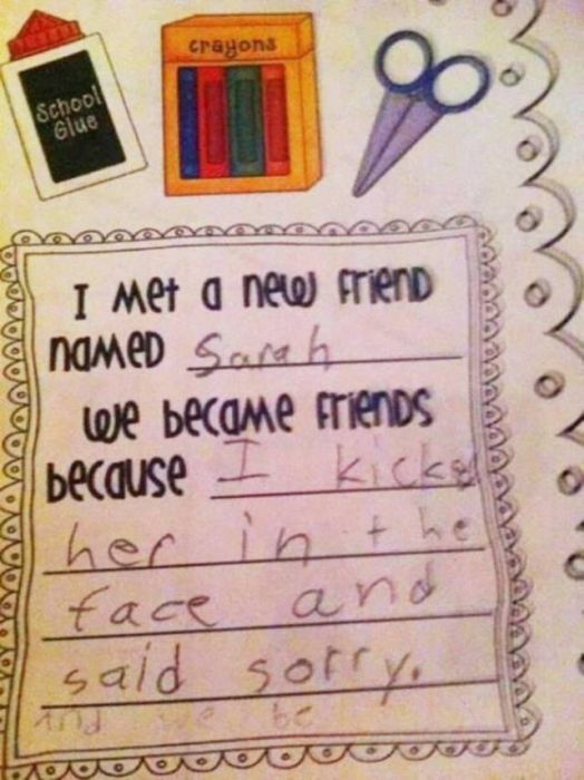 Kids Always Write Whatever The Heck Is On Their Minds (31 pics)