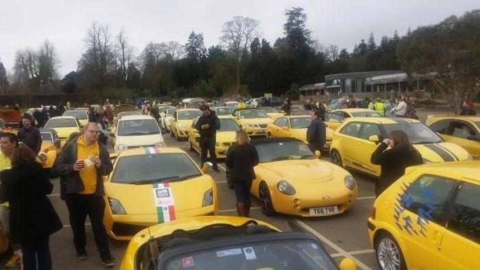 A Parade Of Yellow Cars (5 pics)