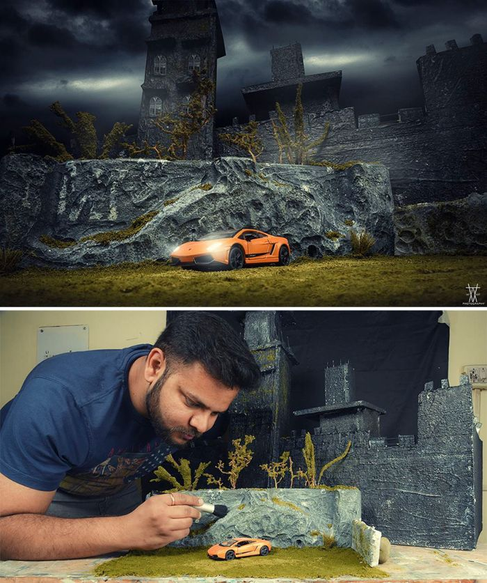 Photographer Creates Epic Outdoor Sets Using Very Little Money (25 pics)