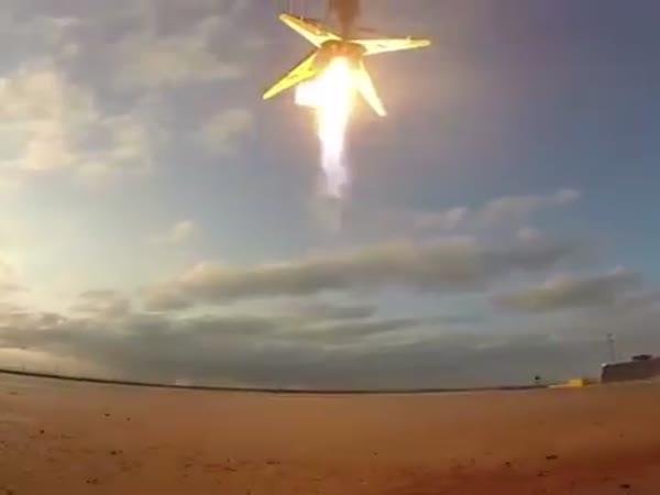 Falcon 9 Landing On The OCISLY
