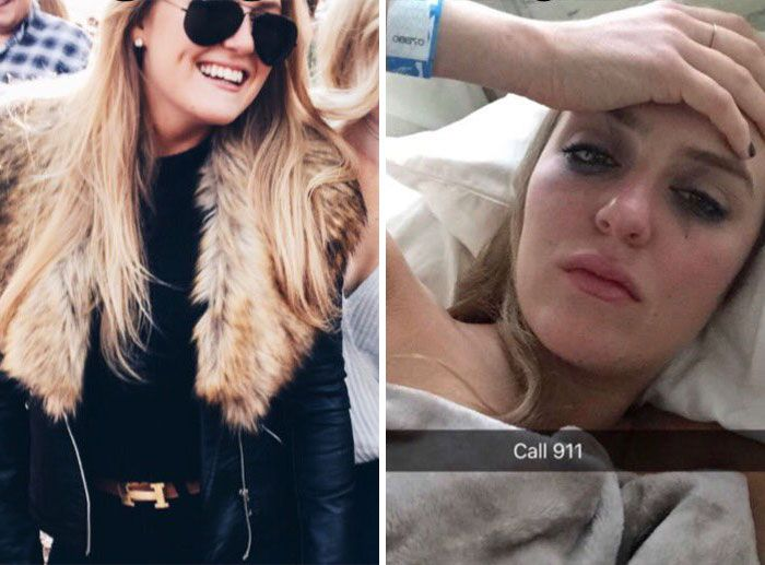 Pictures Of People Before And After A Night Out (7 pics)