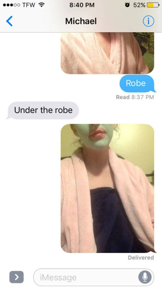 This Girl Had The Best Response When A Guy Asked Her To Send Nudes (8 pics)