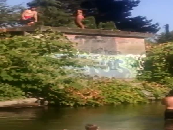 Girlfriend Attempts To Stop Her Man From Jumping