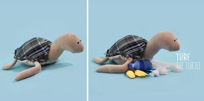 Sad Stuffed Animals That Will Teach Kids About Ocean Pollution (9 pics)