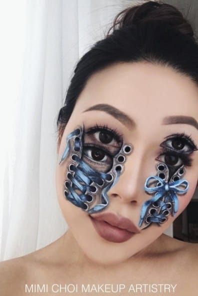 Mind-Blowing Optical Illusions Brought To Life Using Makeup (14 pics)