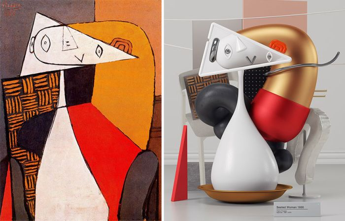 What Pablo Picasso's Paintings Look Like As Sculptures (7 pics)