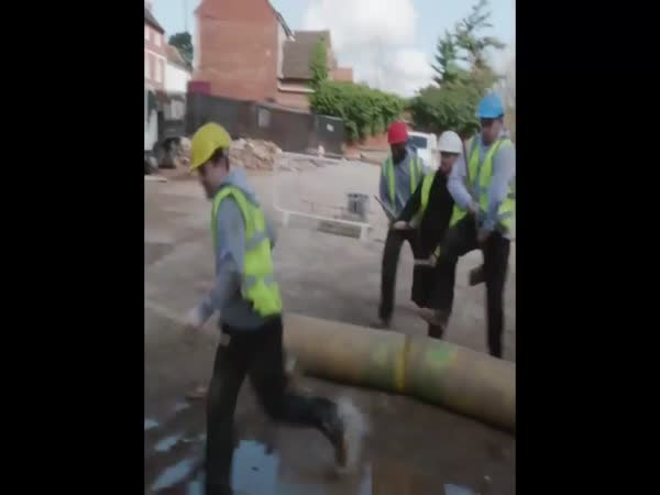 Construction Workers Have Fun