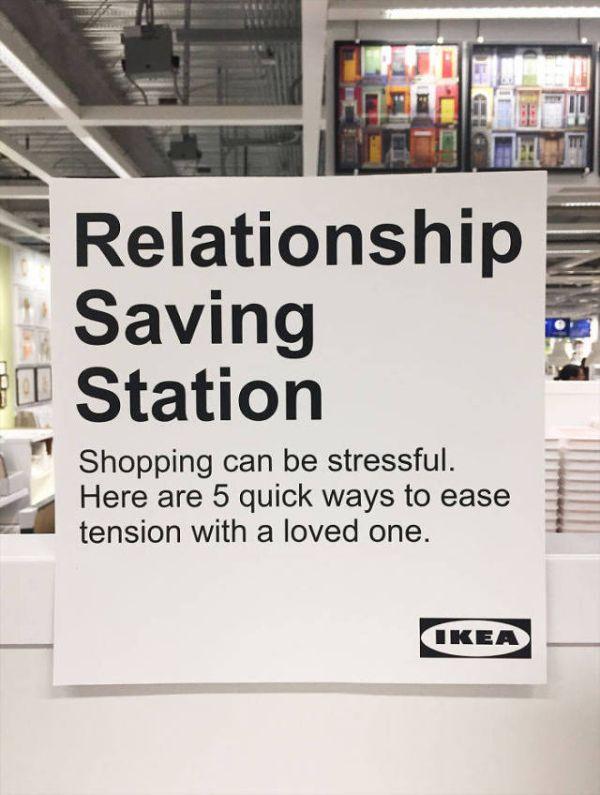 Guy Installs A Relationship Saving Station At IKEA (7 pics)