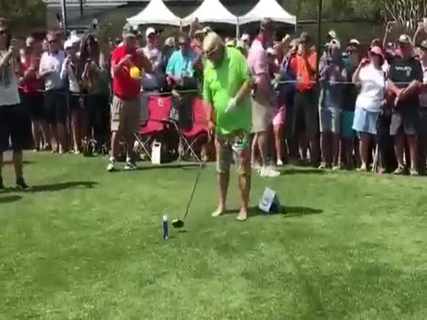 Professional Golfer John Daly Tees Off On His Beer