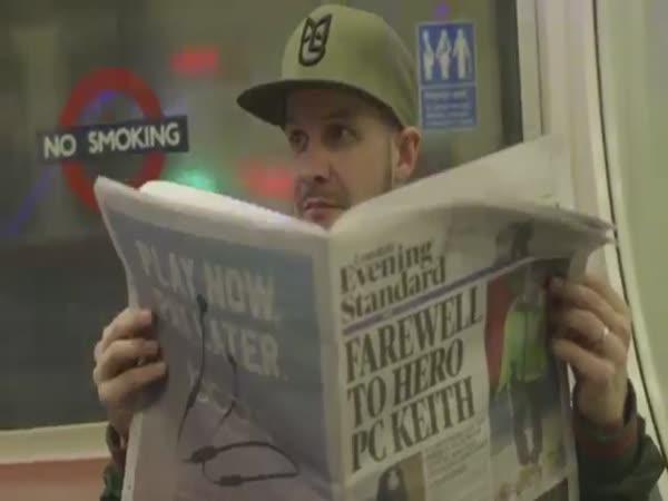 Underground Drum Bass Rave On London Train