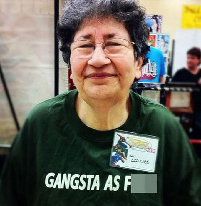 Hilarious Old People With Inappropriate Slogans On Their Shirts (21 pics)