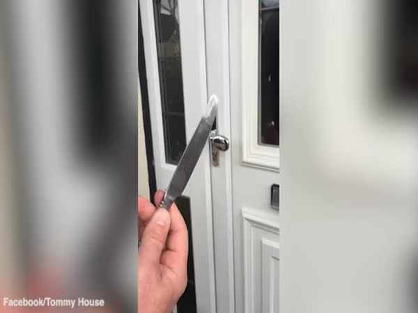 How To Break Into A House With A Butter Knife