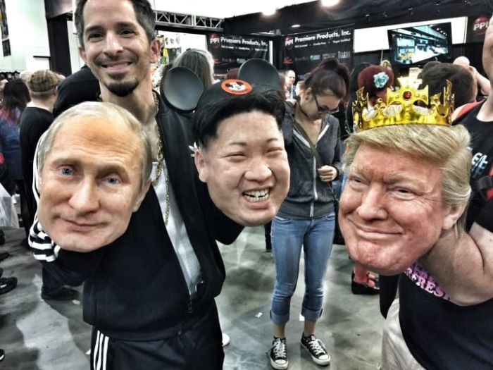These Donald Trump, Vladimir Putin, And Kim Jong-Un Masks Are Creepy (9 pics)