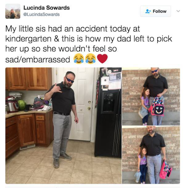 Dad Sacrifices His Dignity To Take Care Of His Daughter (4 pics)