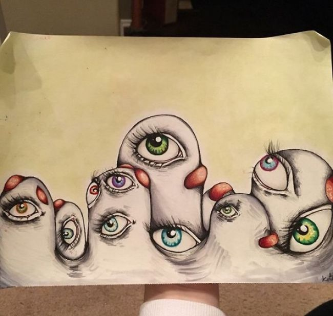 What Happens When Schizophrenia And Art Mix (14 pics)