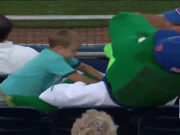 Florida Gators Mascot Takes A Foul Ball To The Head To Protect A Fan