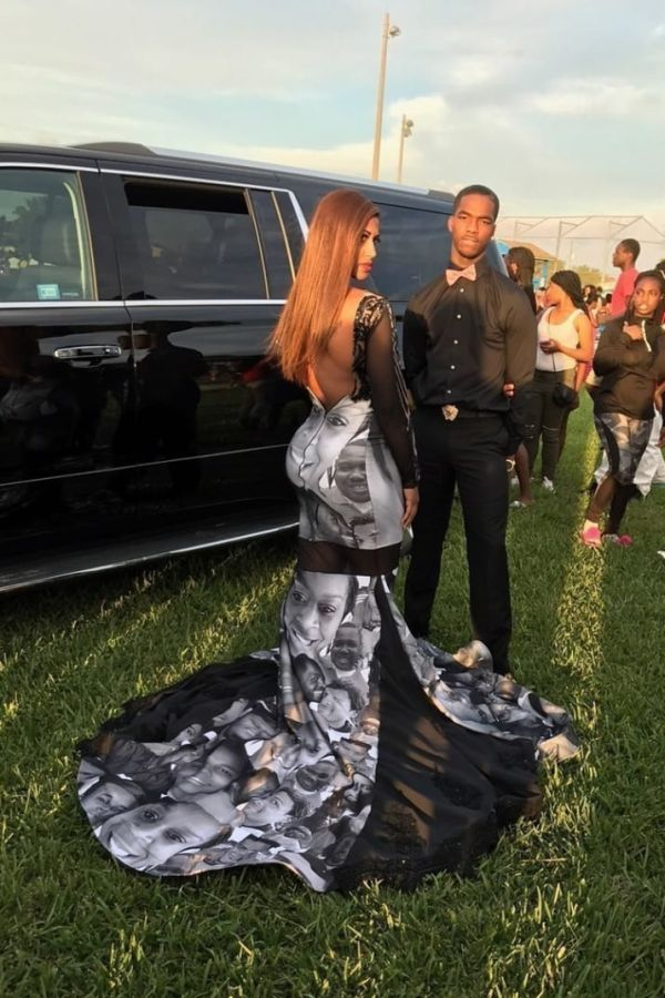Teen Wears Dress To Prom With The Faces Of Black Police Brutality Victims (5 pics)
