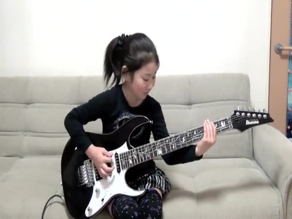 8-Year-Old Metal Head Effortlessly Shreds The Electric Guitar