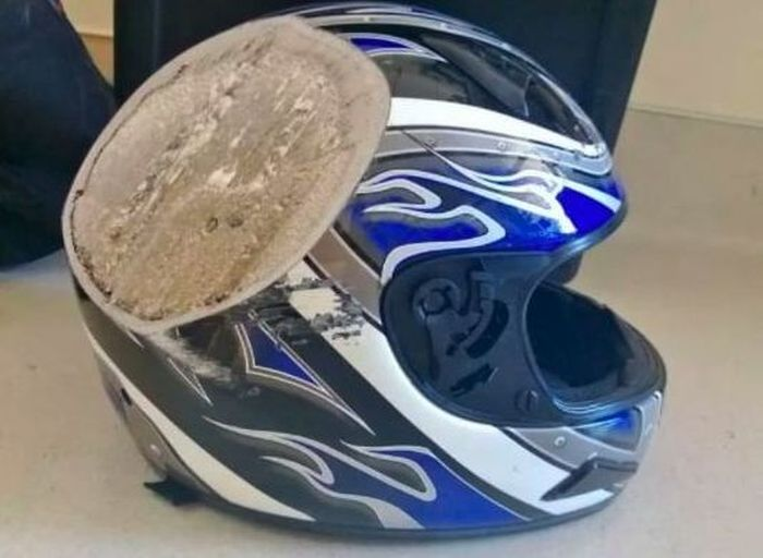 Here's Why You Should Always Wear A Helmet (15 pics)