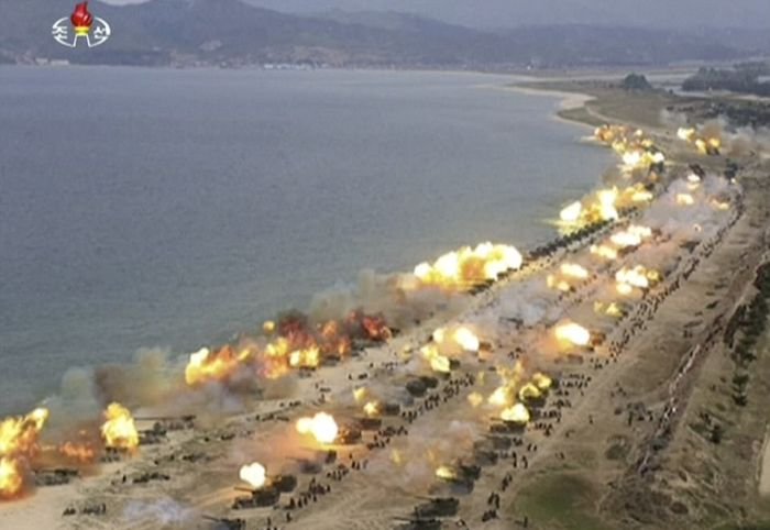 North Korea Holds Its Largest Live Fire Artillery Drill (13 pics)