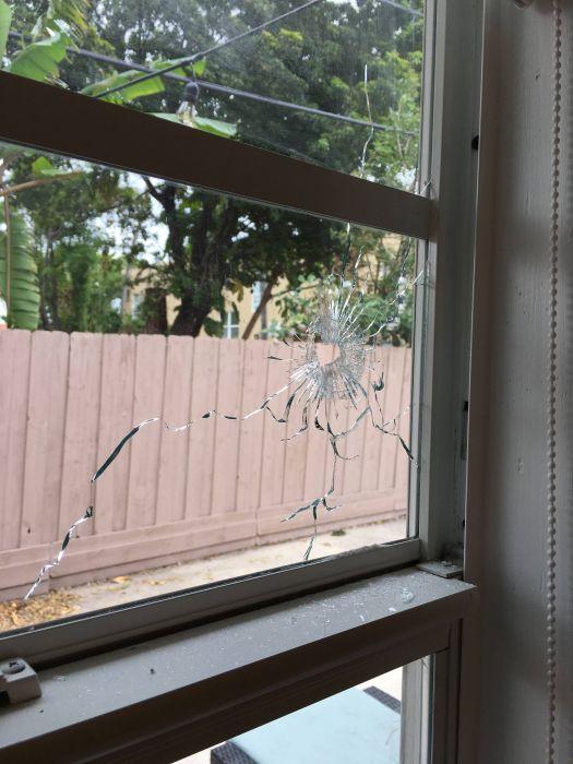 Stray Bullet Hits The Wall Three Feet From Where His Fiancee Sleeps (7 pics)