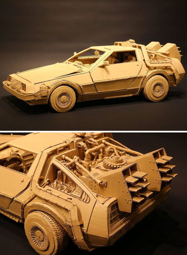 Japanese Cardboard Artist Turns Amazon Boxes Into Incredible Sculptures (30 pics)