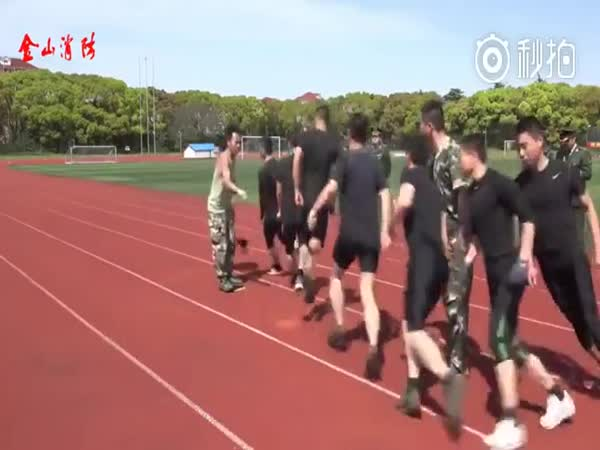 Chinese Soldiers Have Unique Way Of Training For War