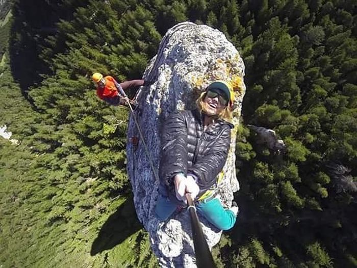 Woman Takes An Extreme Selfie (2 pics)