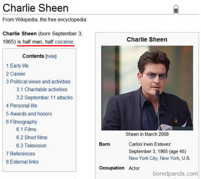 Why Wikipedia Simply Can't Be Trusted (45 pics)