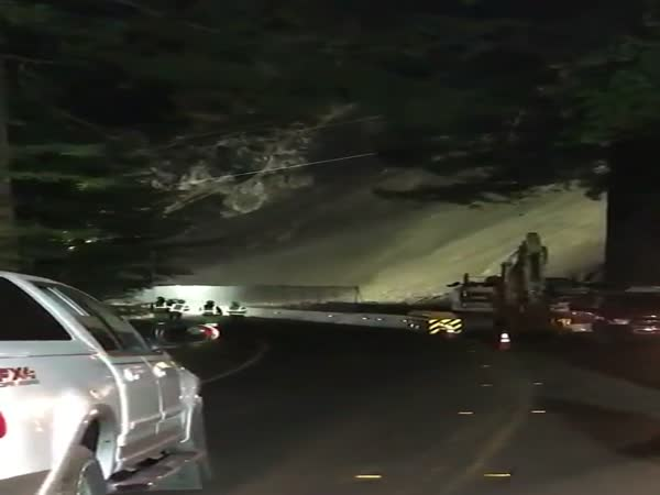 Giant Landslide Takes Out A Road In Northern California