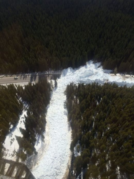 Controlled Avalanche Leaves A Major Highway Buried (4 pics)