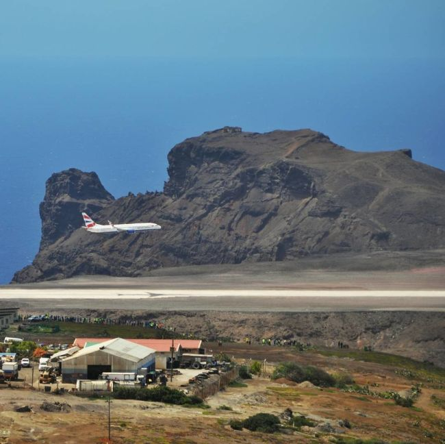 Plane Finally Lands At World's Most Useless Airport (11 pics)