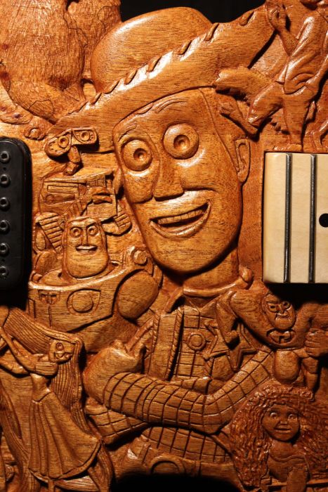This Pixar Themed Guitar Took 200 Hours To Make (22 pics)