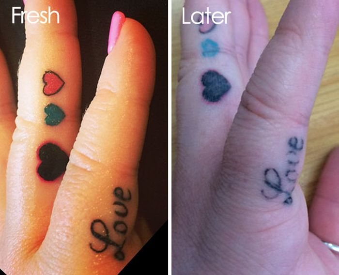 Pictures That Reveal How Tattoos Age Over Time (28 pics)