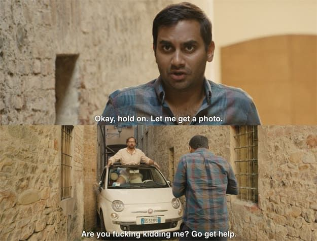 The Hilarious Stuck Car Scene From Master Of None Really Happened (4 pics)