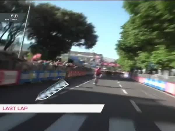 Cyclist Celebrates Victory One Lap Early And Loses Race