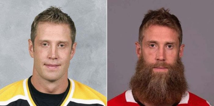 Watch NHL Players Transform And Grow Playoff Beards (10 gifs)