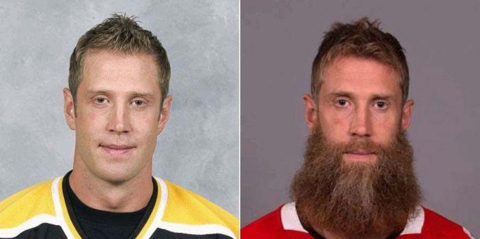Watch NHL Players Transform And Grow Playoff Beards (10 gifs)