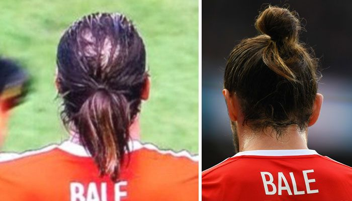 Men Are Trying To Hide Baldness With Man Buns Now (5 pics)