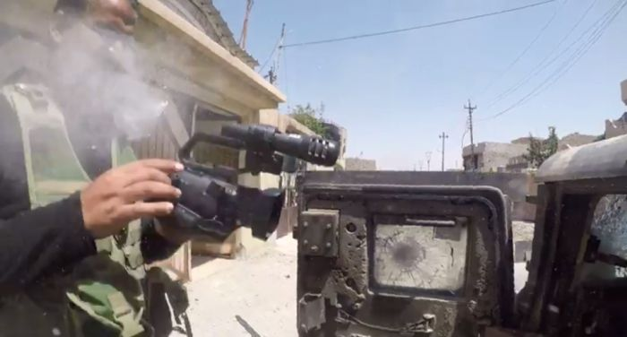 Journalist's GoPro Camera Stops An ISIS Bullet (3 pics + video)