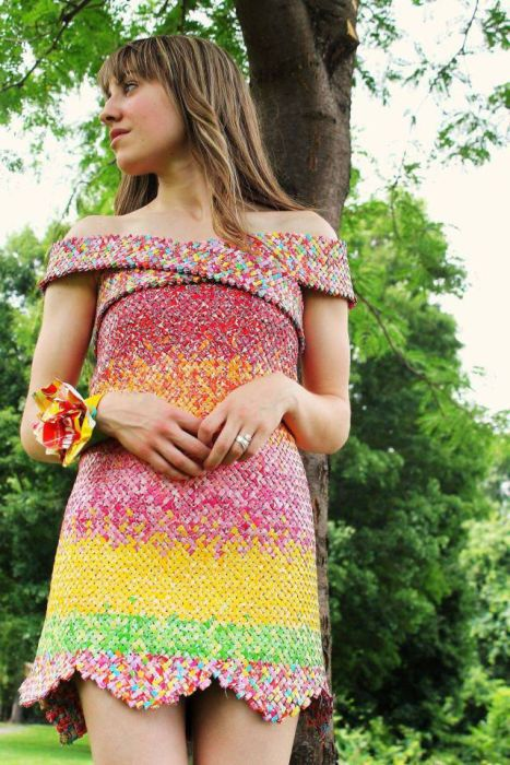 This Dress Was Made Using 10,000 Candy Wrappers (9 pics)