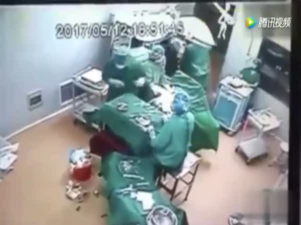 Fight Breaks Out Mid Surgery Between Medical Workers In Operating Room