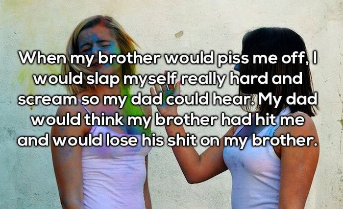 People Confess To The Worst Thing They Blamed Their Sibling For (22 pics)