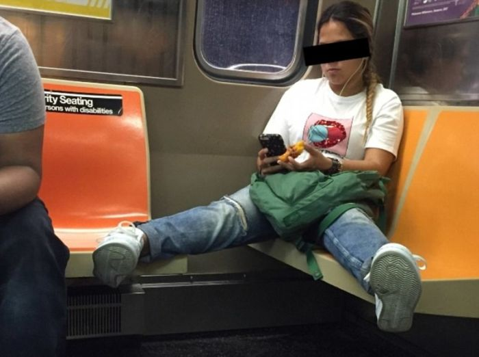 What It Looks Like When Women Start Femspreading On Public Transportation (16 pics)
