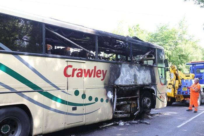 Student Saves 59 Kids Before Bus Bursts Into Flames (10 pics)
