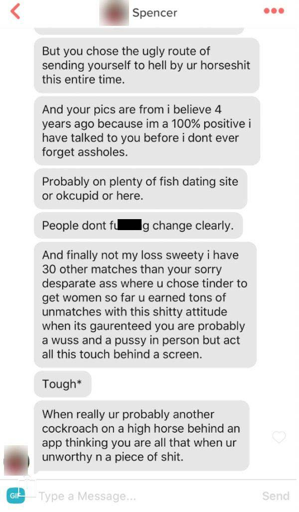 Tinder Girl Goes Off On Guy For Not Reading Her Bio (5 pics)